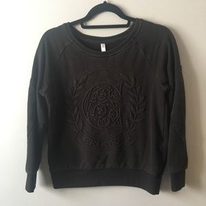 Crooks and Castles black pullover sweater